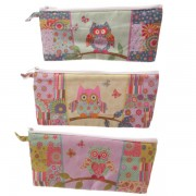 BFACPU - 001 - 110 - Cute Owl Patchwork Effect Pencil Case