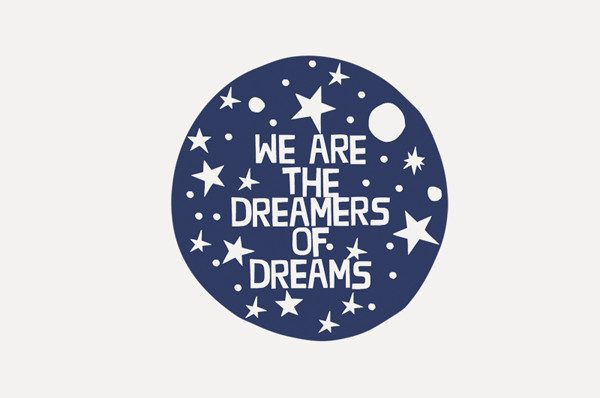 BFACUG003448 - We are the dreamers of dreams - temporary tattoos a