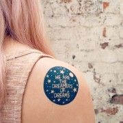 BFACUG003448 - We are the dreamers of dreams - temporary tattoos c