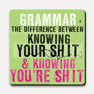BFACUG003740 - Grammar The Difference - Coaster