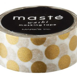 BFADMJ004103 Maste Basic - Gold Polka Dots - Washi Tape