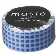 BFADMJ004111 Maste Basic Navy Checkered - Washi Tape