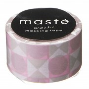 BFADMJ004424 Maste Multi Colored Pink Tile - Washi Tape
