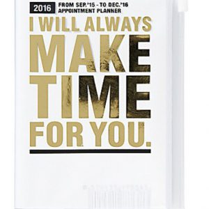 BFADMJ004J04 2016 I Will Always Gold A5 Diary