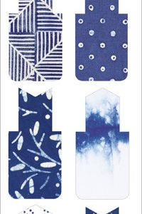 BFAEGA – 001 – 110 – 6 Stylish Magnetic Indigo Bookmarks