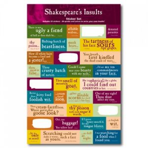 BFAACW – 003 – 050 – Shakespeare's Insults Sticker Set