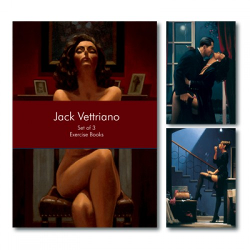 BFAACW – 003 – 060 – Set of 3 A5 Exercise Books Jack Vettriano Collection