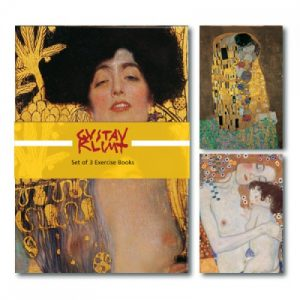 BFAACW – 003 – 061 – Set of 3 A5 Exercise Books Gustav Klimt Collection