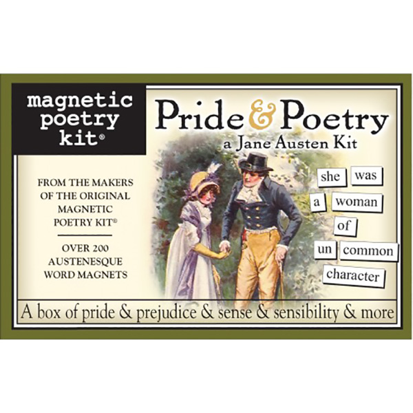 16 Book Lovers and Readers Gifts Under £20 - BFAACW – 003 – 101 – Jane Austen Pride and Poetry Magnetic Kit