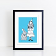 BFABAW – 001 – 003 – Limited Edition Alice and White Rabbit Print