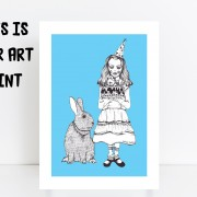BFABAW – 001 – 003 – Limited Edition Alice and White Rabbit Print b