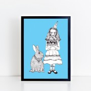 BFABAW – 001 – 003 – Limited Edition Alice and White Rabbit Print c