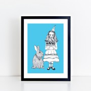 BFABAW – 001 – 003 – Limited Edition Alice and White Rabbit Print d