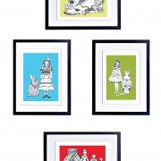 BFABAW – 001 – 006 – 4 Limited Edition Art Prints Fairy Tales and Nursery Rhymes