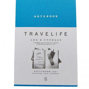 BFADMJ – 004 – 500 – A5 Blue Notebook TraveLife D