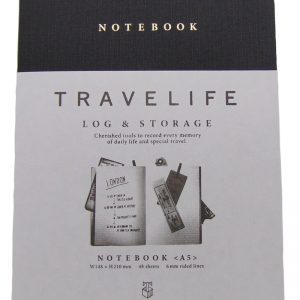 BFADMJ – 004 – 501 – A5 Blue Notebook TraveLife d