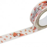 BFADMJ – 004 – 250 – Shinzi Katoh Red Hood Pudding Washi Tape